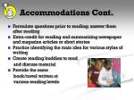 accommodations cont