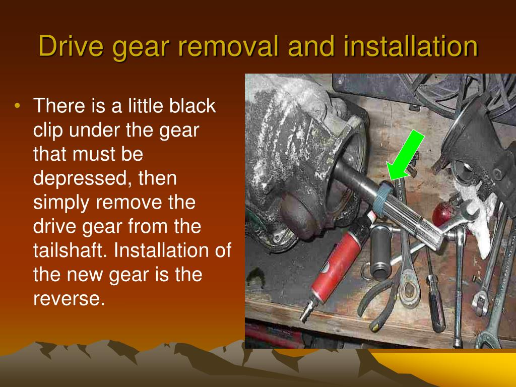 Drive gear removal and installation