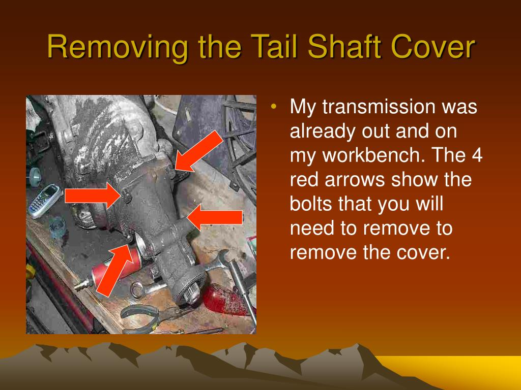 Removing the Tail Shaft Cover