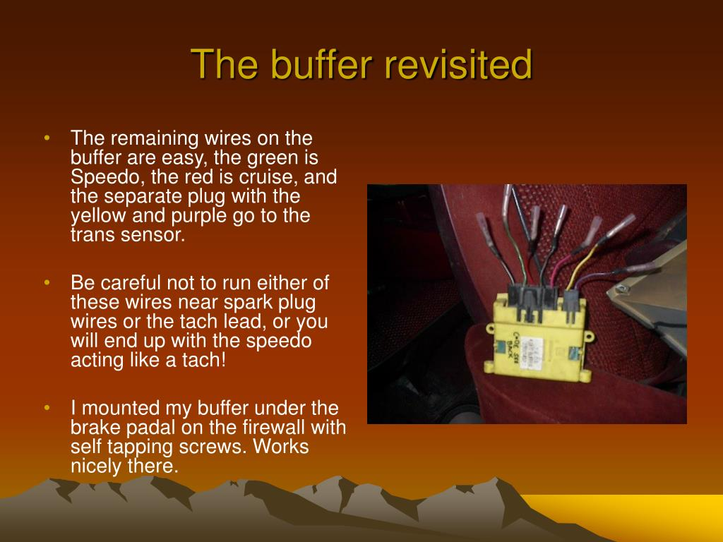 The buffer revisited