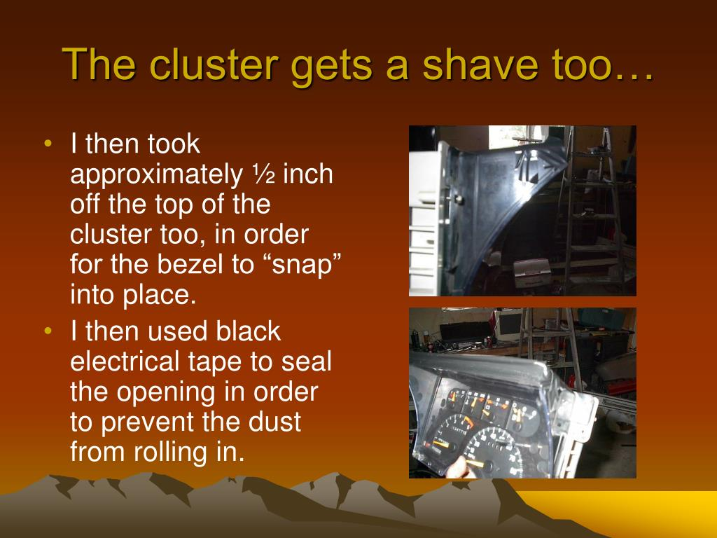 The cluster gets a shave too…