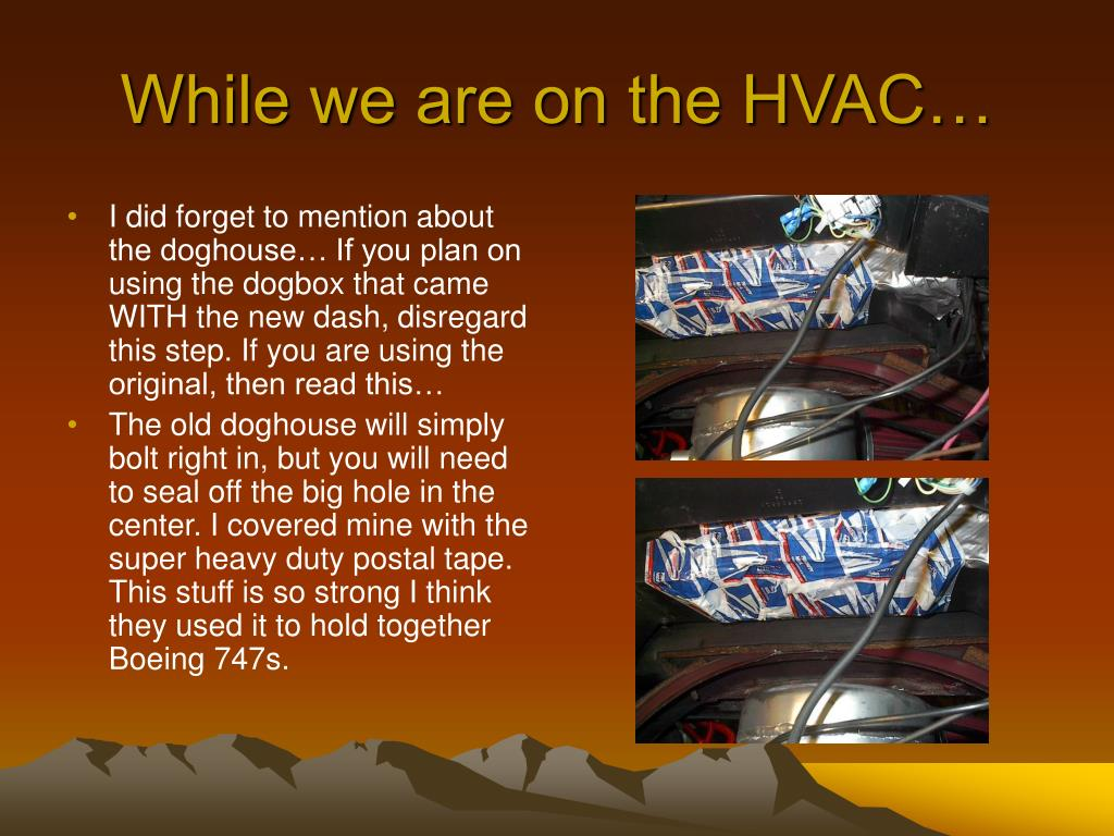 While we are on the HVAC…