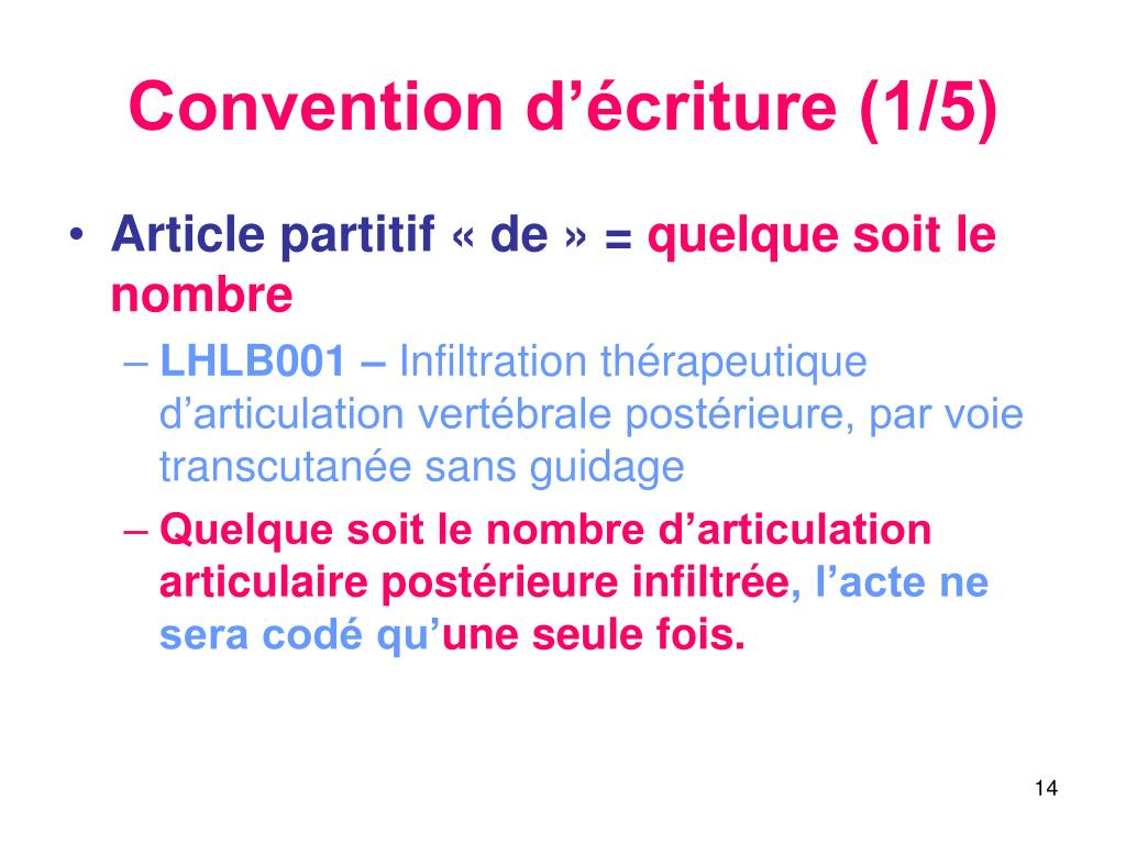 Convention d'écriture (1/5)