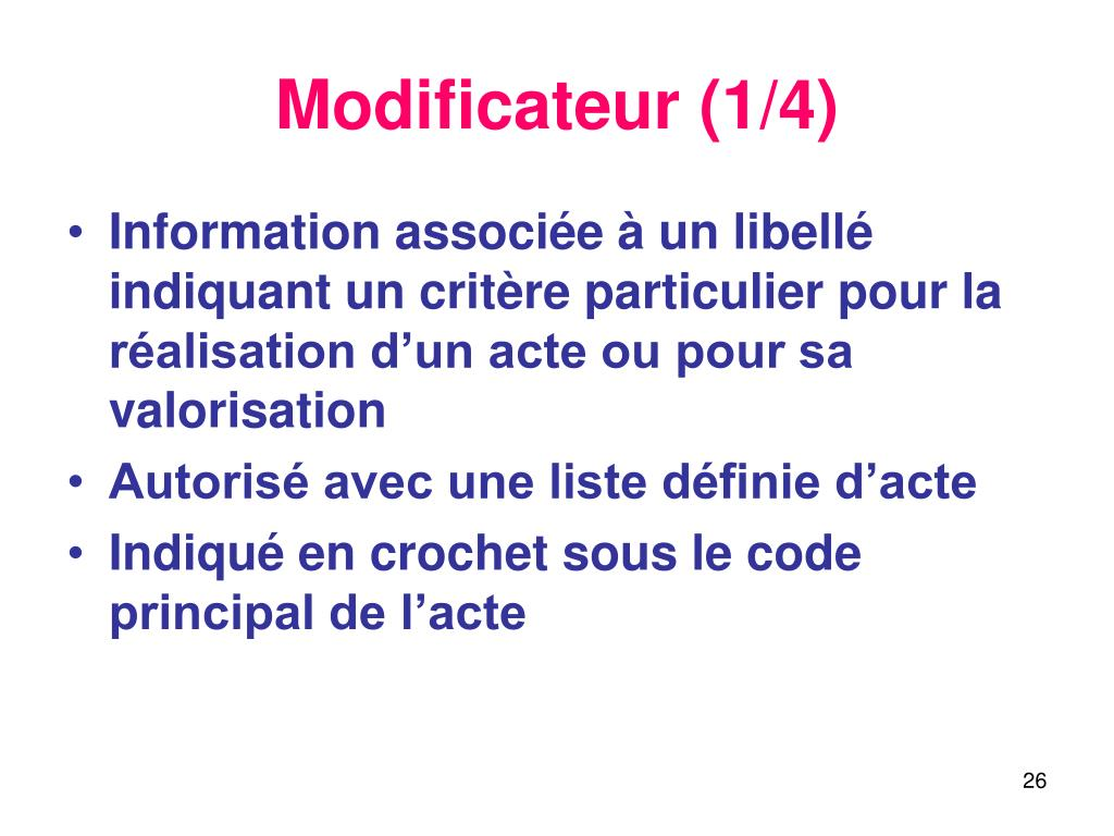 Modificateur (1/4)