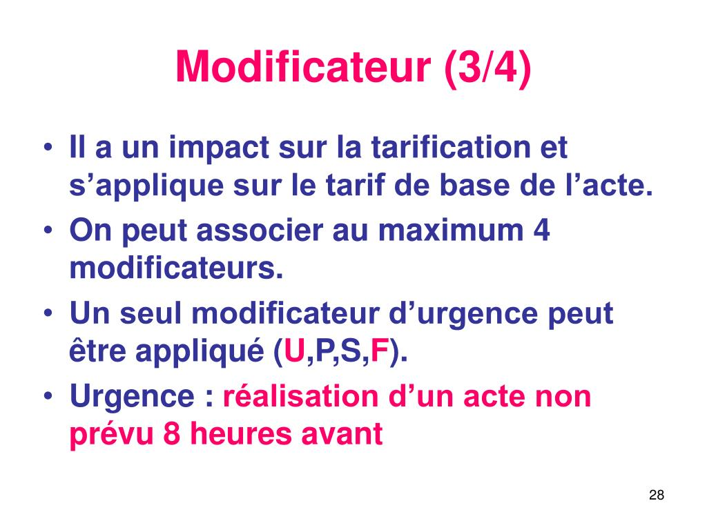 Modificateur (3/4)