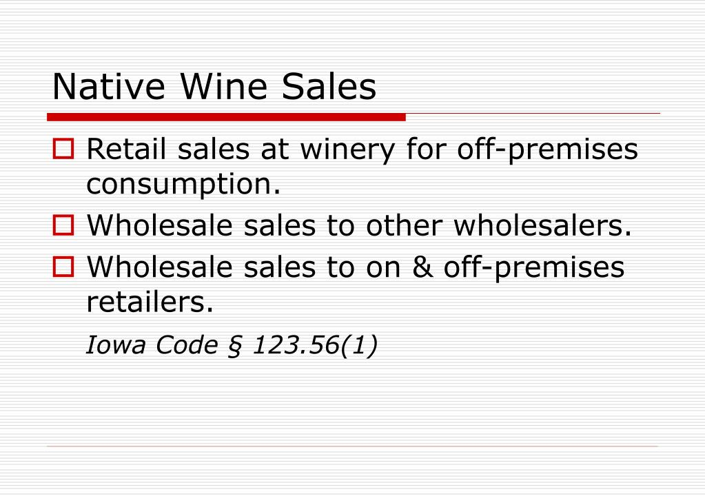 Native Wine Sales