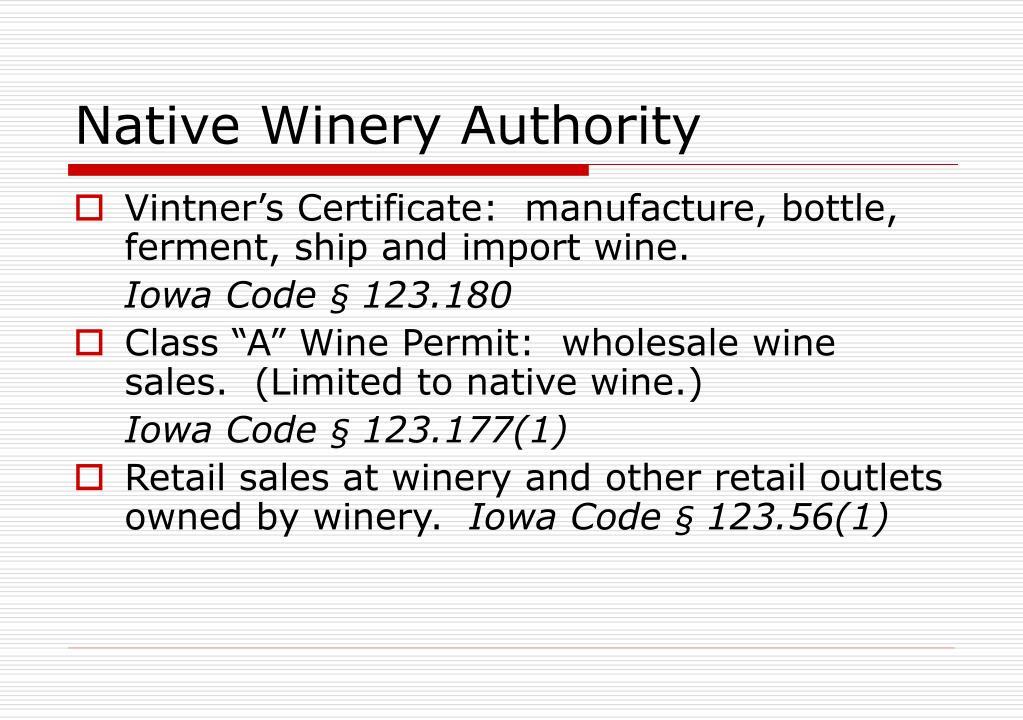Native Winery Authority