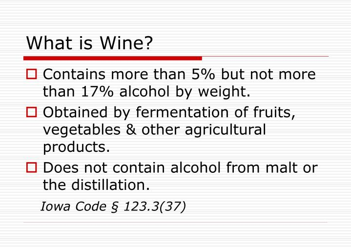 What is wine
