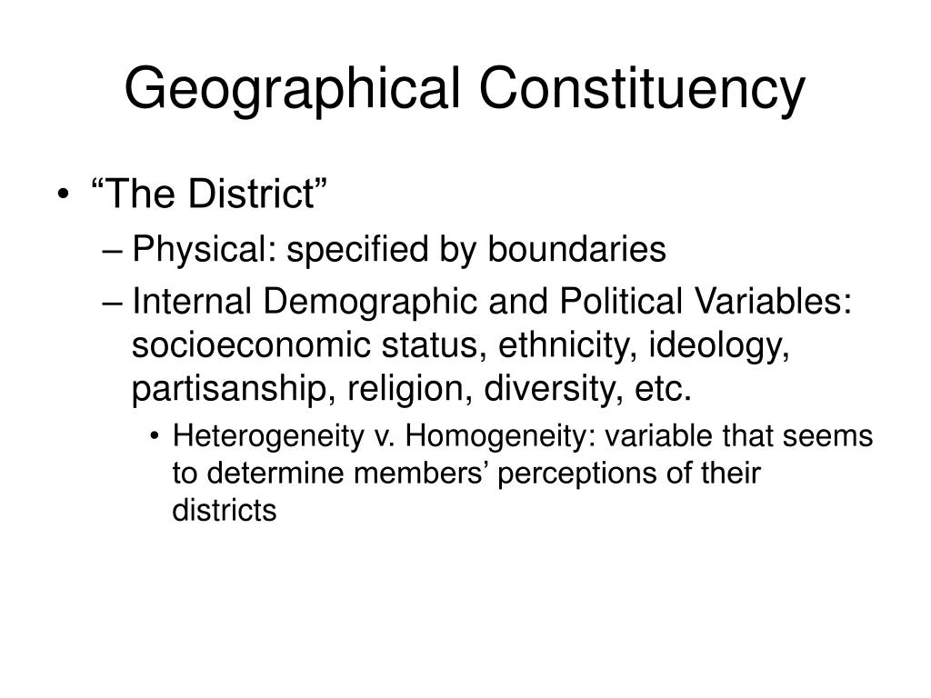 Geographical Constituency