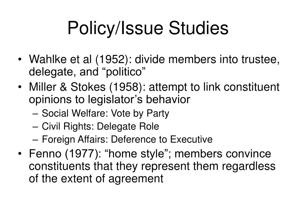 Policy/Issue Studies