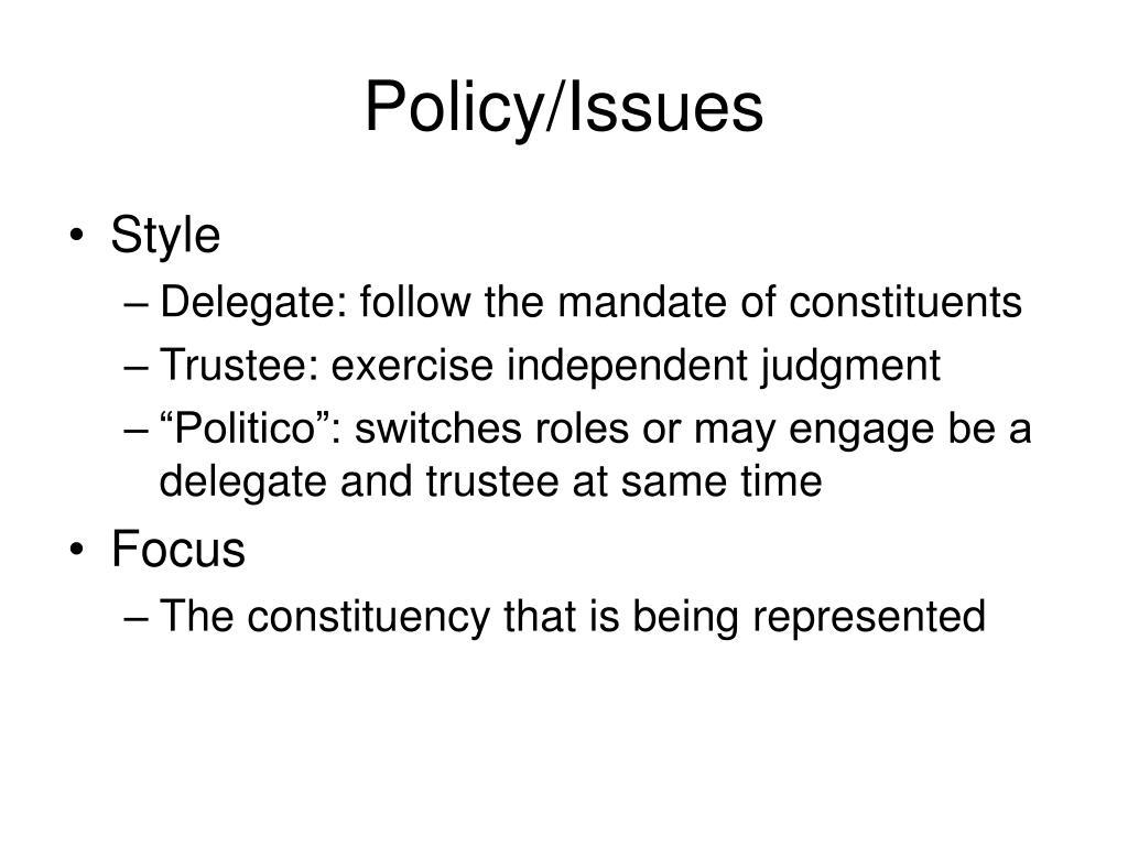 Policy/Issues