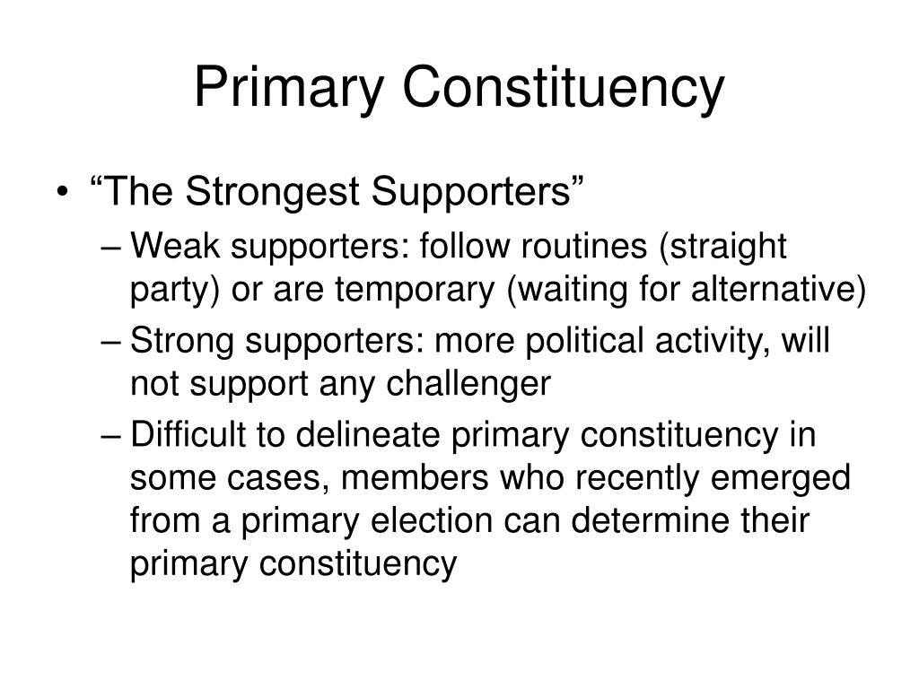 Primary Constituency