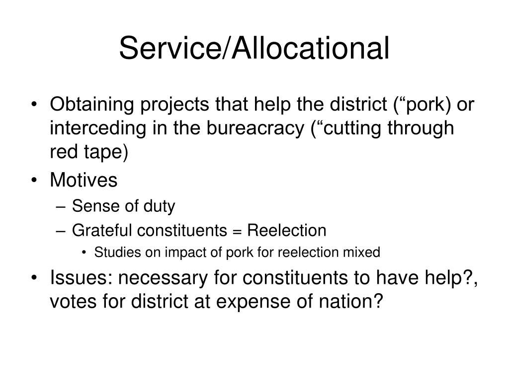Service/Allocational