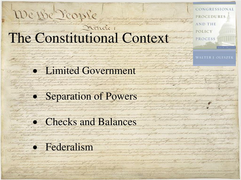 The Constitutional Context