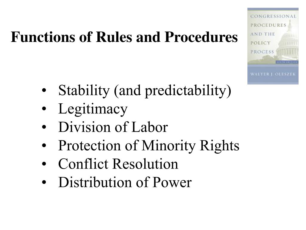 Functions of Rules and Procedures