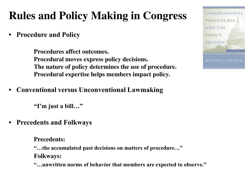 Rules and Policy Making in Congress