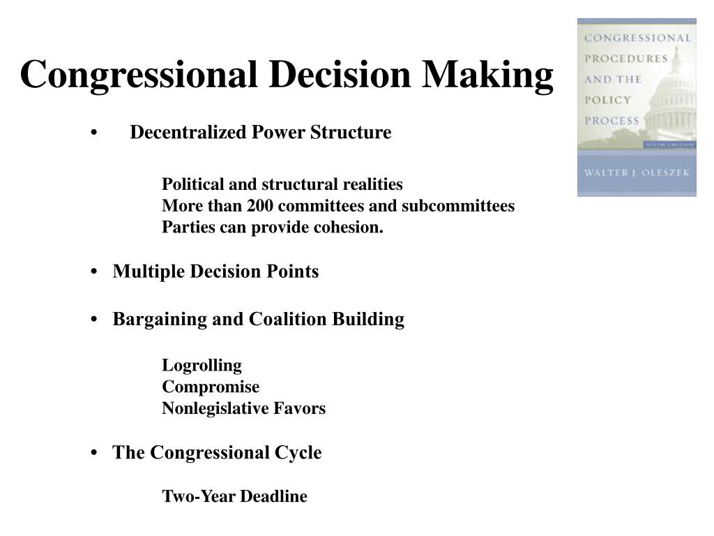 Congressional Decision Making
