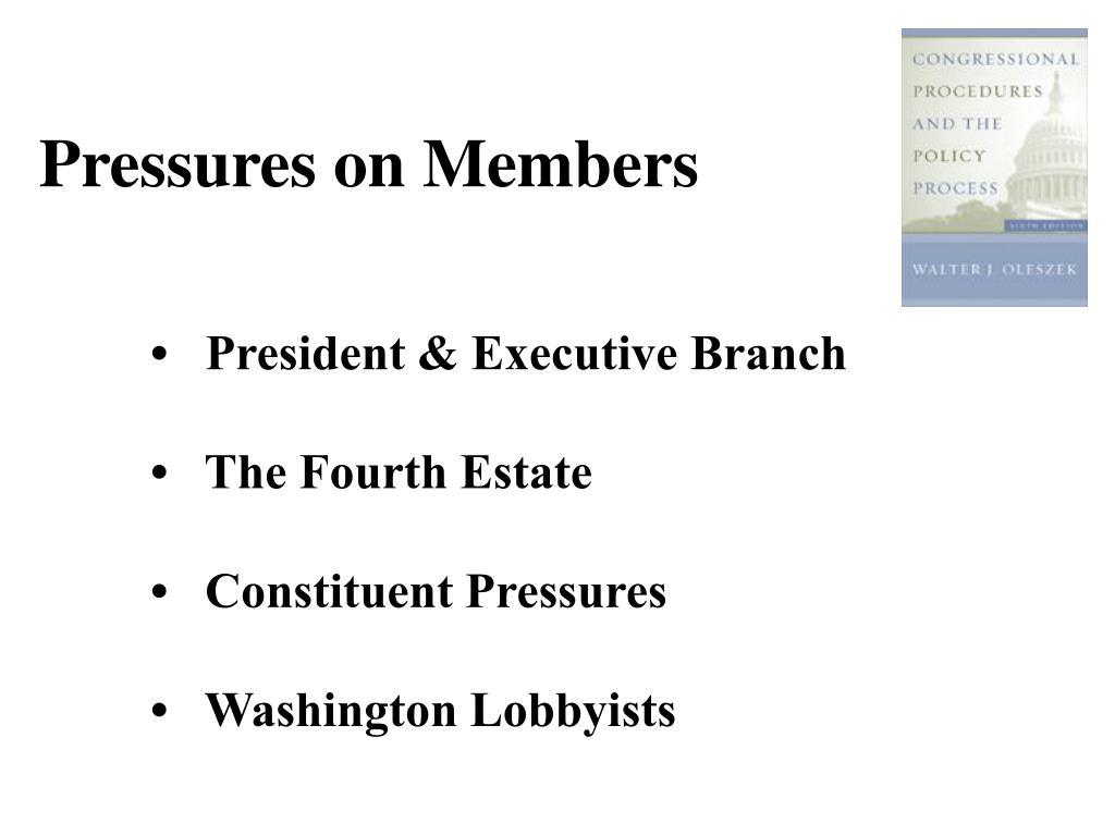 Pressures on Members