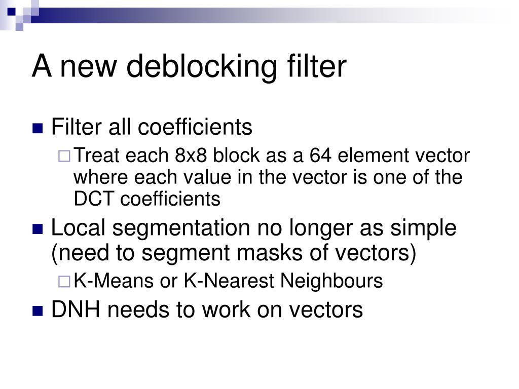 A new deblocking filter