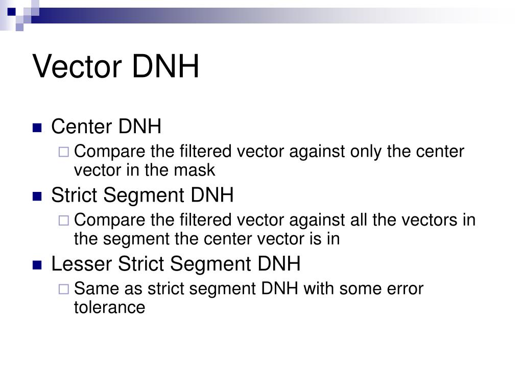 Vector DNH