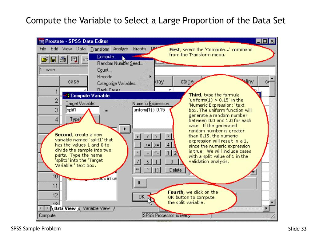 Compute the Variable to Select a Large Proportion of the Data Set