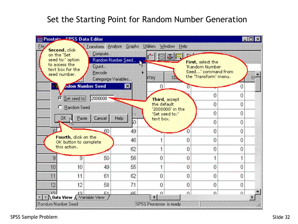 Set the Starting Point for Random Number Generation