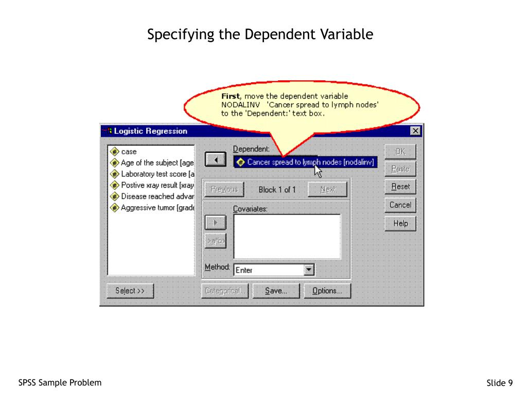 Specifying the Dependent Variable