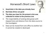 horwood s short laws