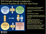 doi climate change leadership science priorities for the doi task force