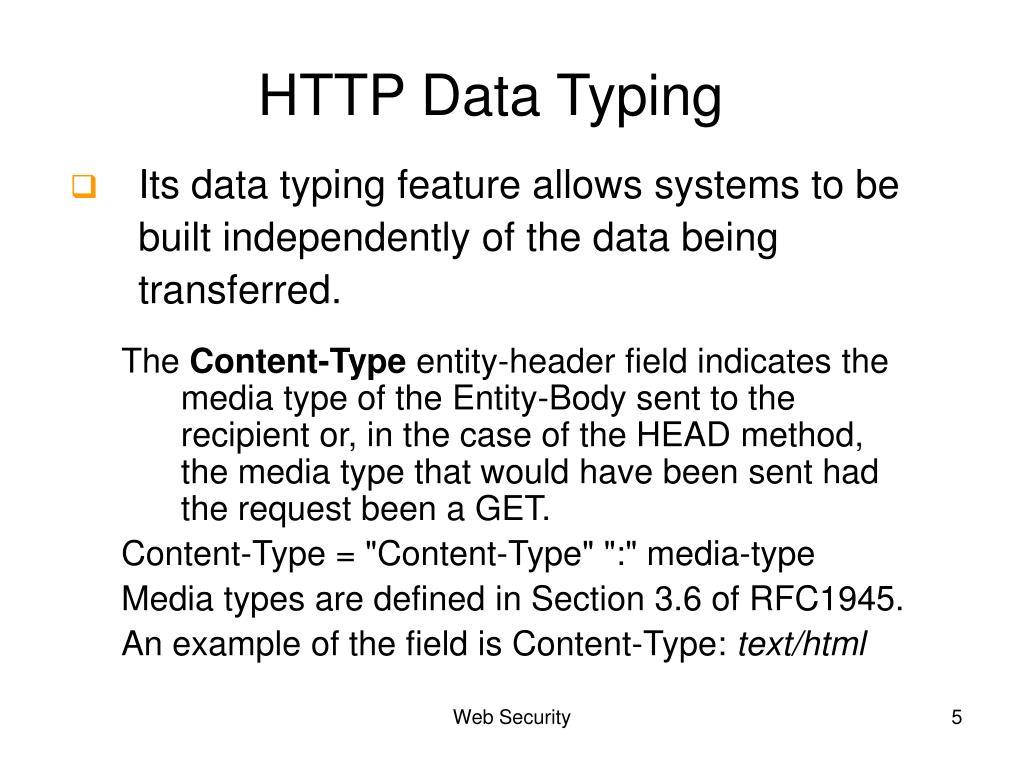 HTTP Data Typing