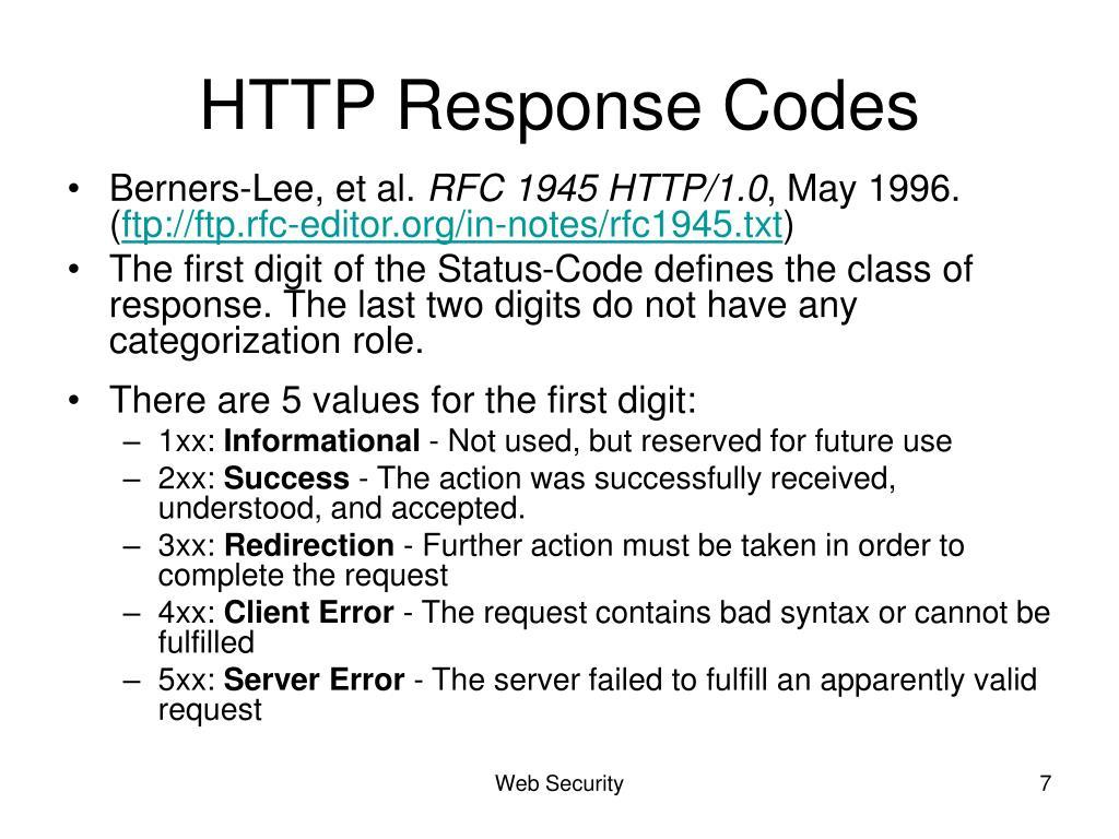 HTTP Response Codes