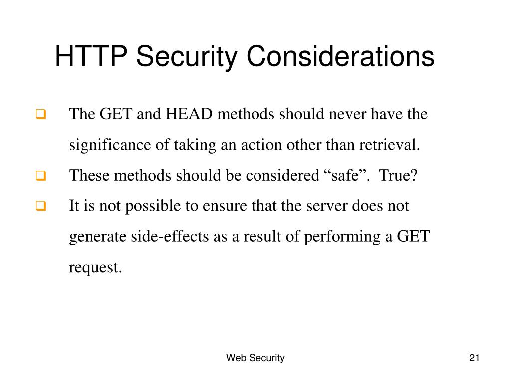 HTTP Security Considerations