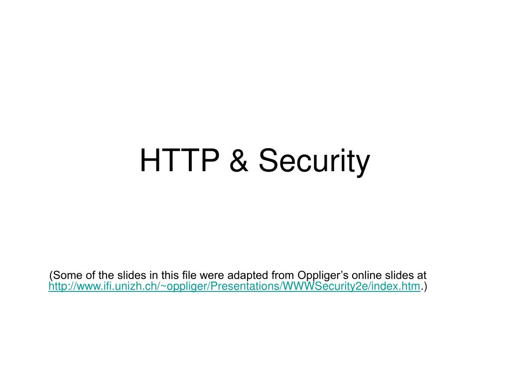 HTTP & Security