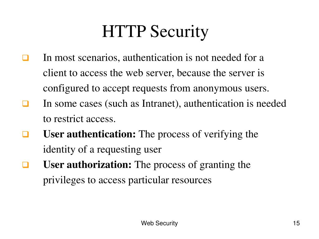 HTTP Security