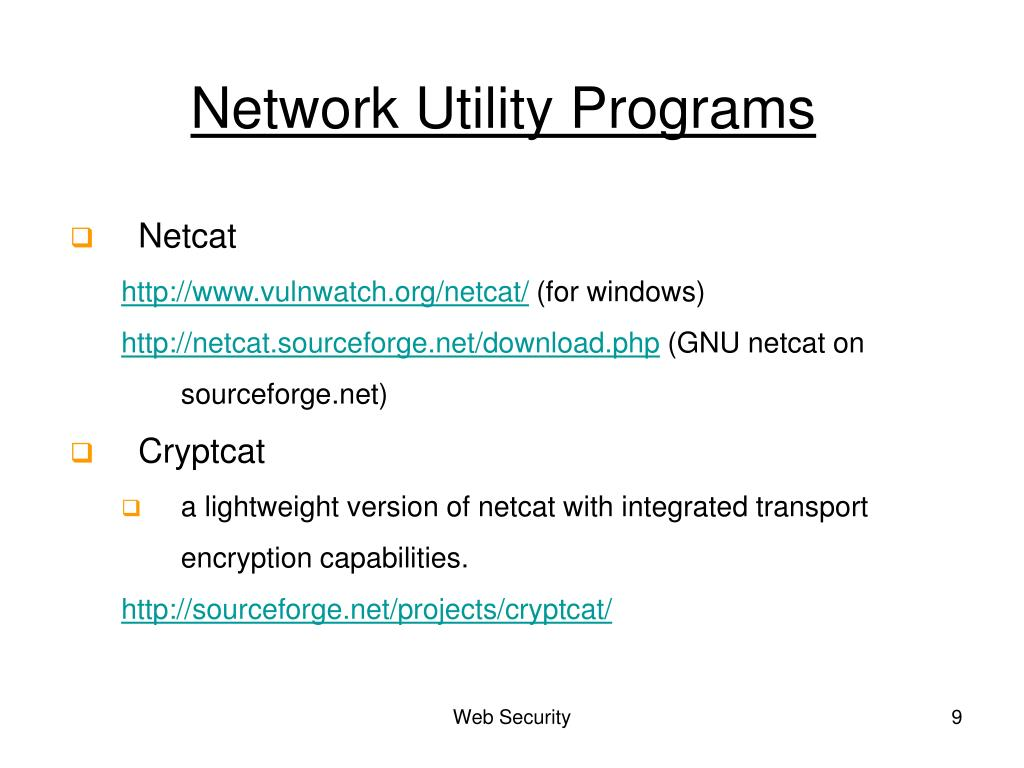 Network Utility Programs