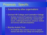 proposals specific