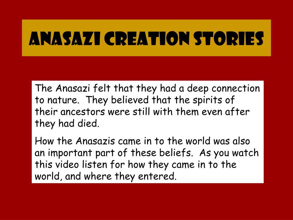 anasazi creation stories l.