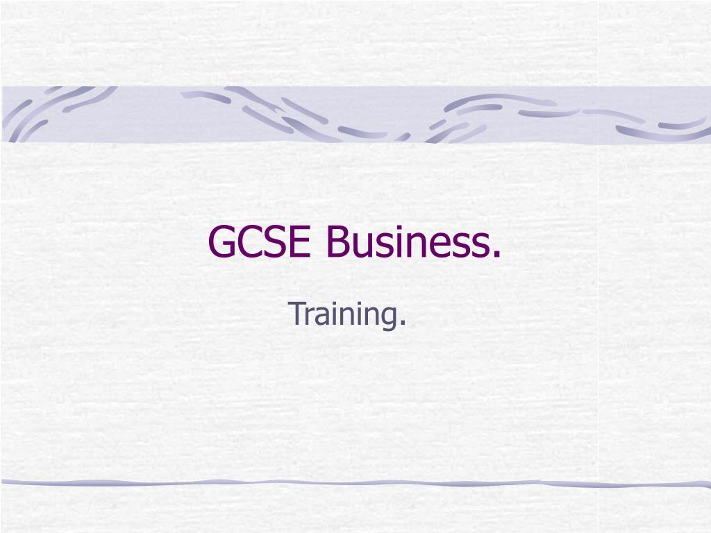 gcse business l.