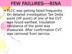 few failures bina71