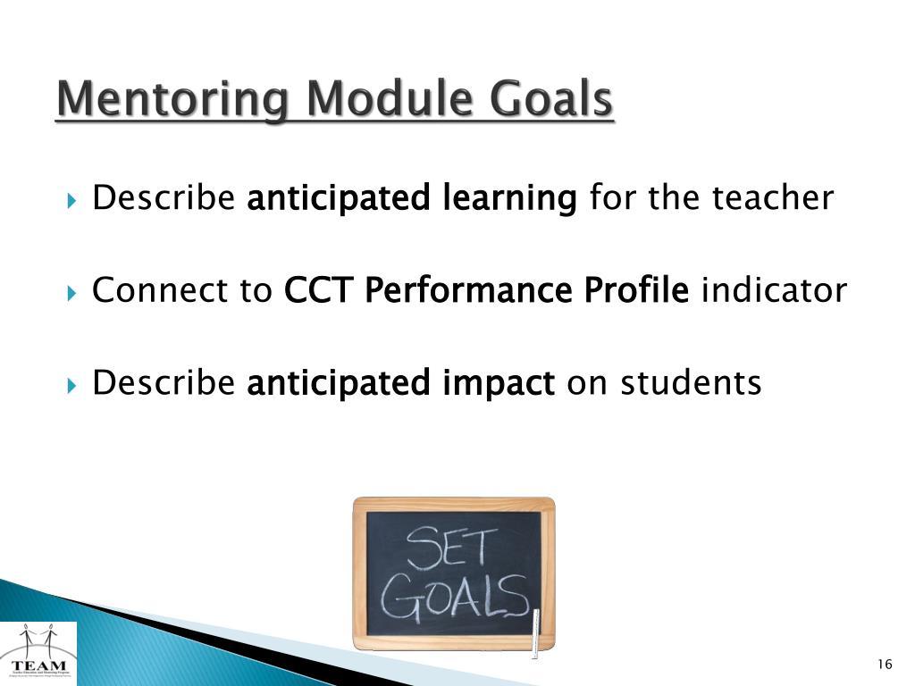 Mentoring Module Goals