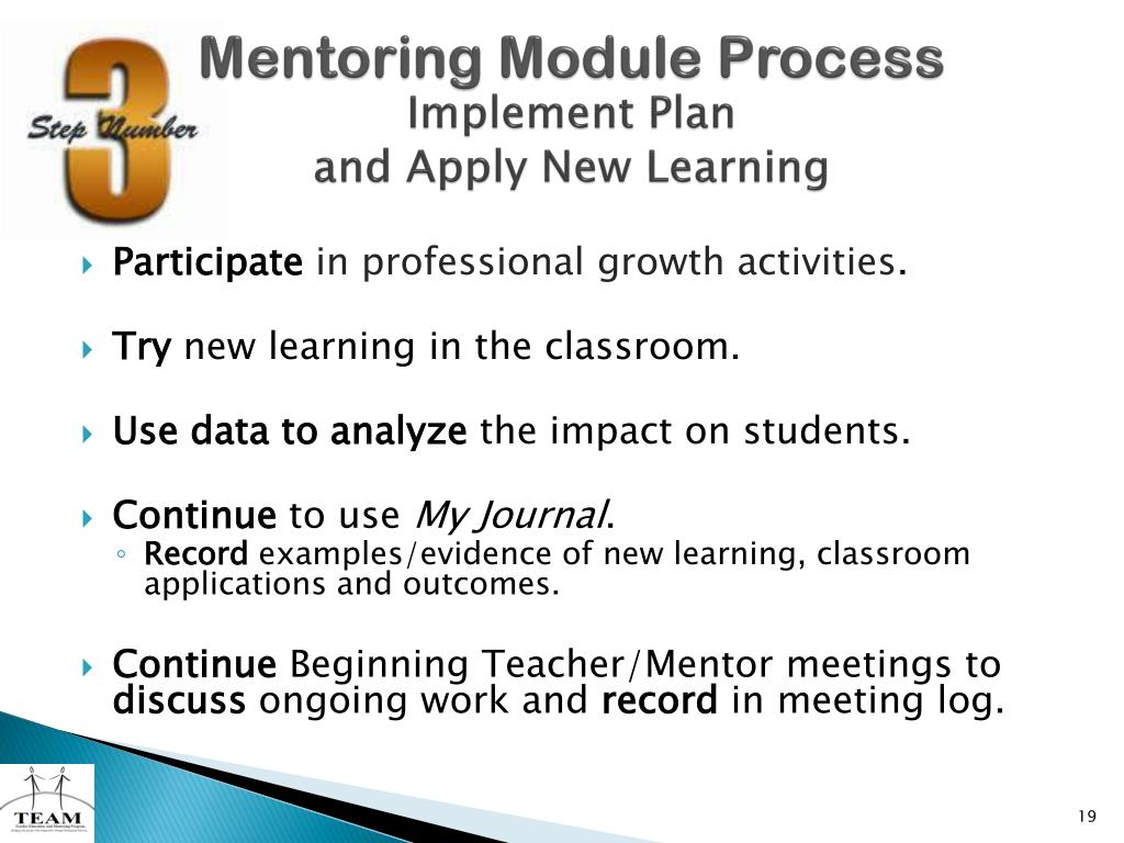 Mentoring Module Process