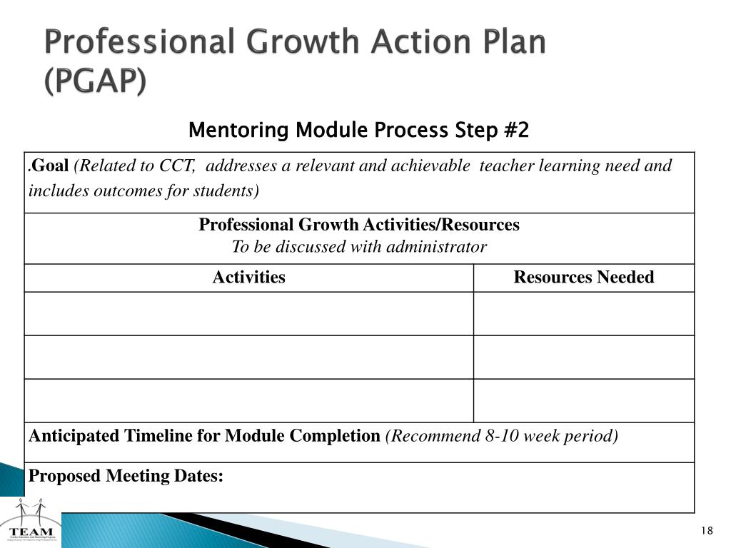 Professional Growth Action Plan