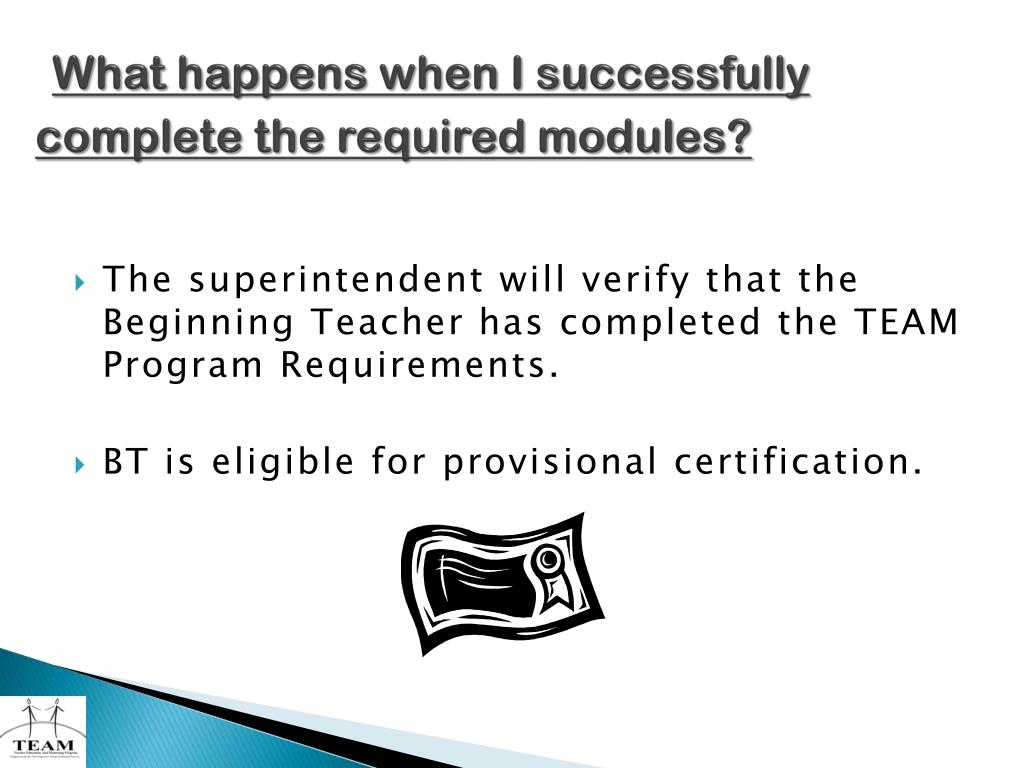 What happens when I successfully complete the required modules?