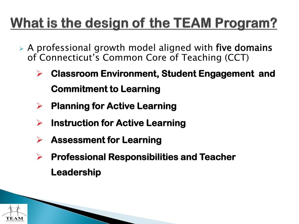 What is the design of the TEAM Program?