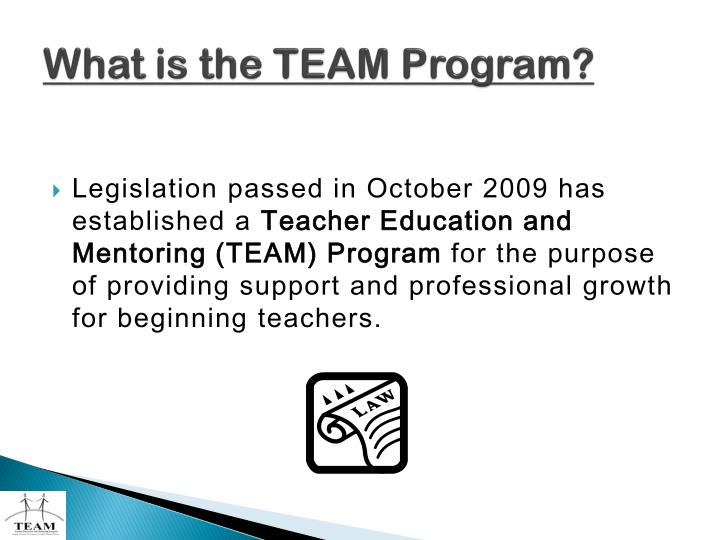 What is the team program