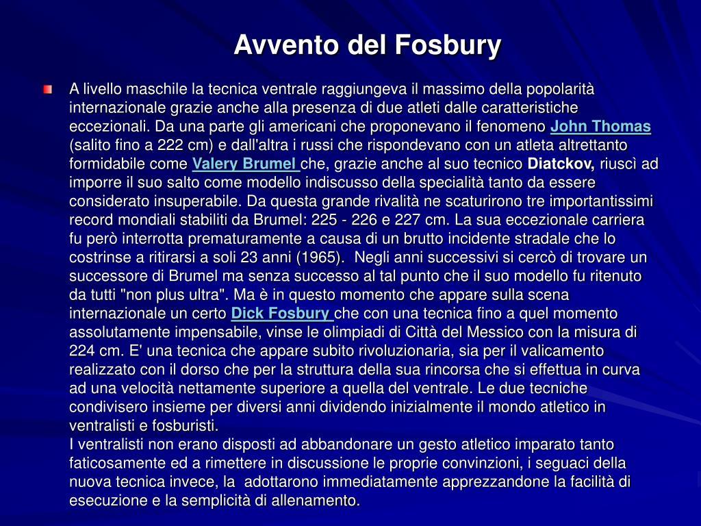 Avvento del Fosbury