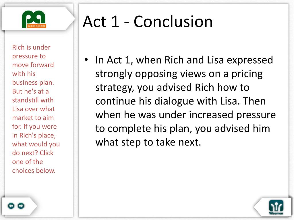 Act 1 - Conclusion