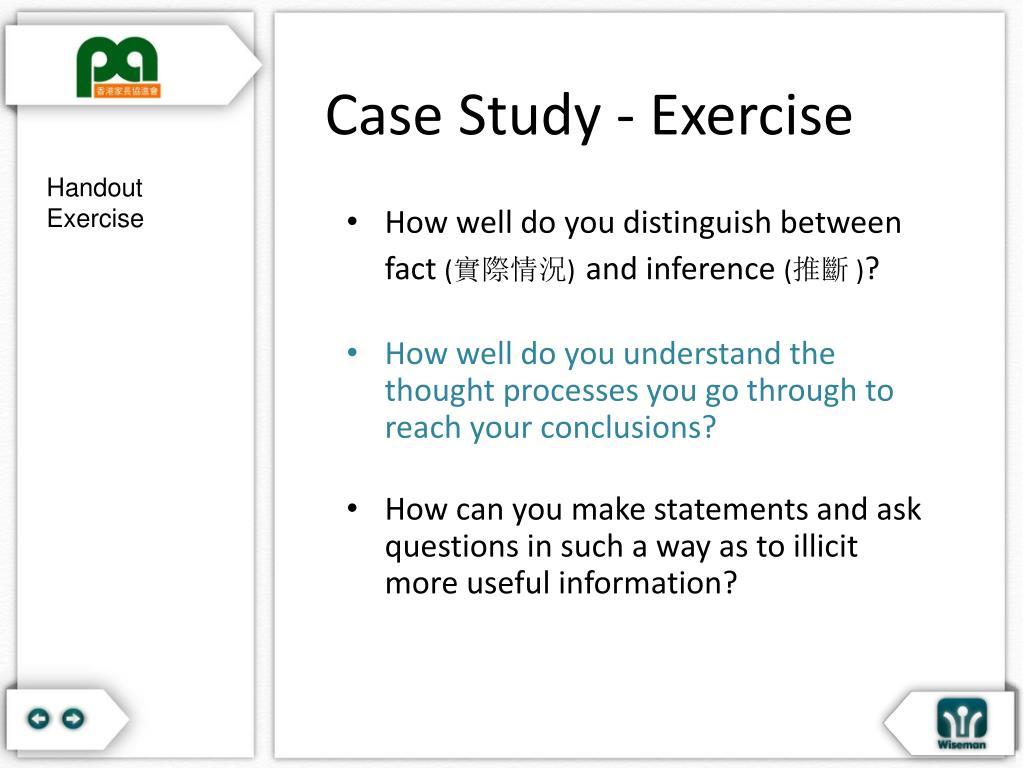 Case Study - Exercise