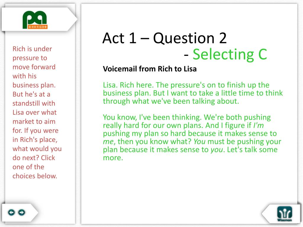 Act 1 – Question 2