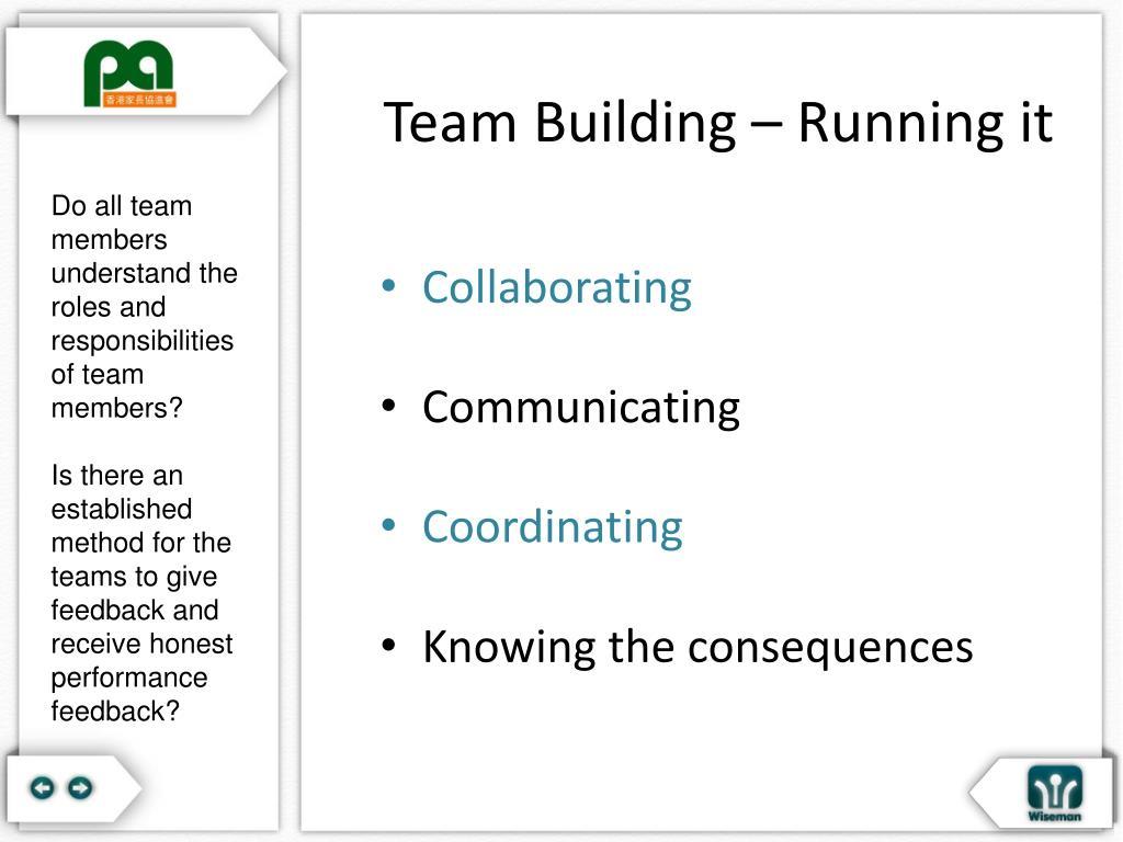 Team Building – Running it